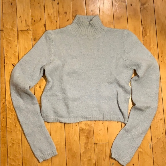 Express Sweaters - Mohair mock turtleneck cropped sweater
